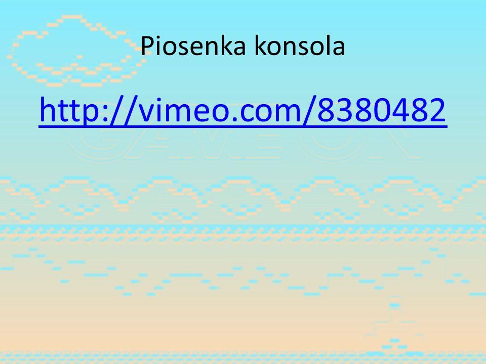 Piosenka konsola http://vimeo.com/8380482