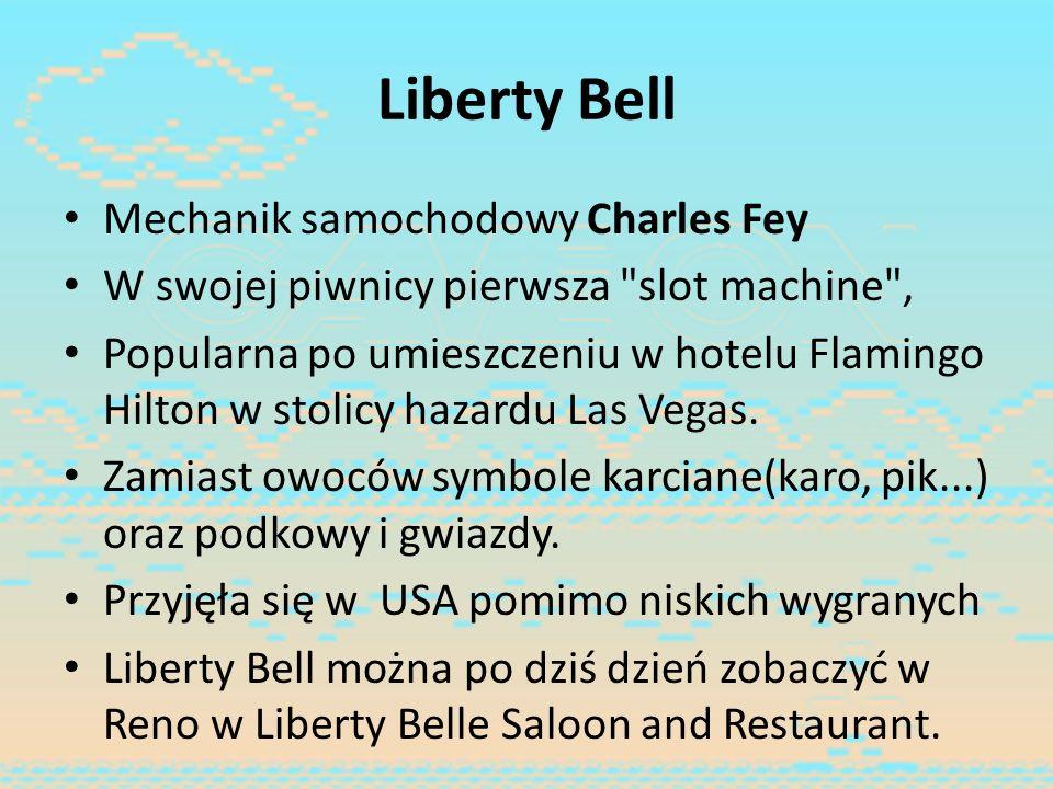 Liberty Bell Mechanik samochodowy Charles Fey W swojej piwnicy pierwsza