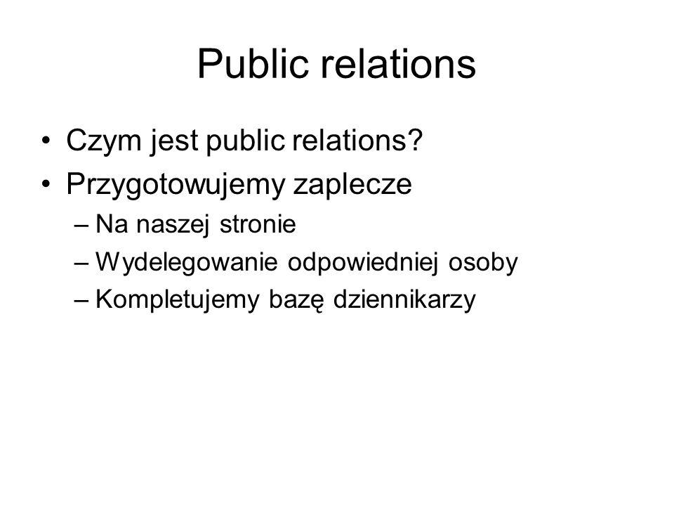 Public relations Czym jest public relations.