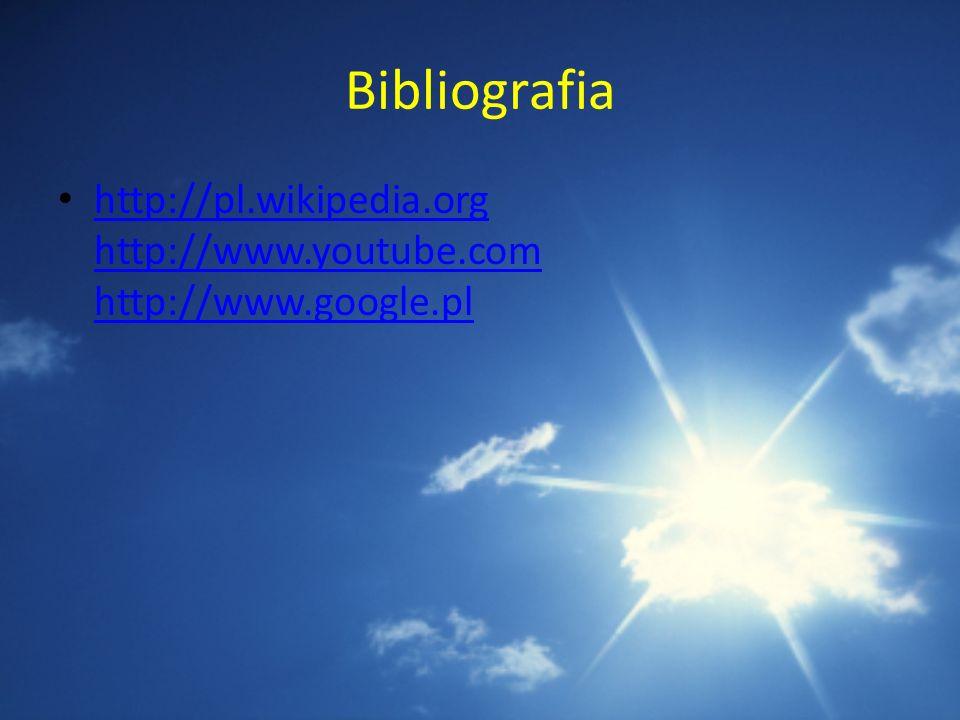 Bibliografia http://pl.wikipedia.org http://www.youtube.com http://www.google.pl http://pl.wikipedia.org http://www.youtube.com http://www.google.pl