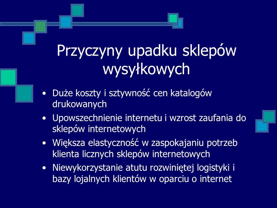 Początki sklepów internetowych 1995 Amazon.com 1996 ToTu.com - Poznań 1998 Merlin.pl