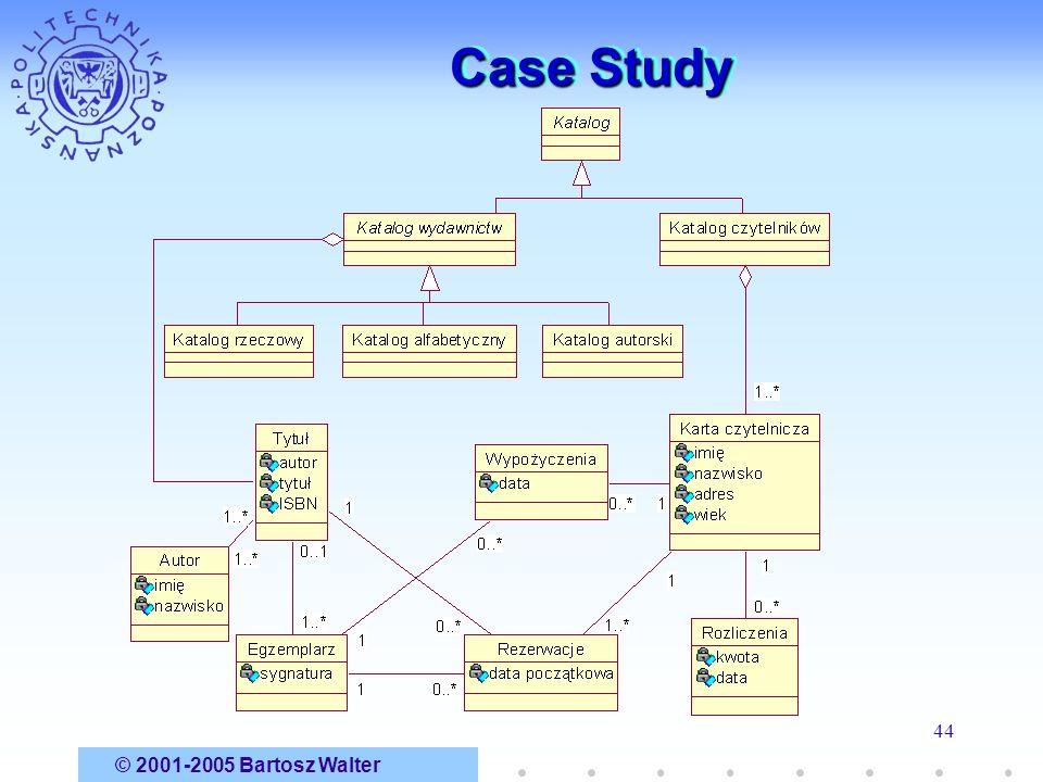 © 2001-2005 Bartosz Walter 44 Case Study