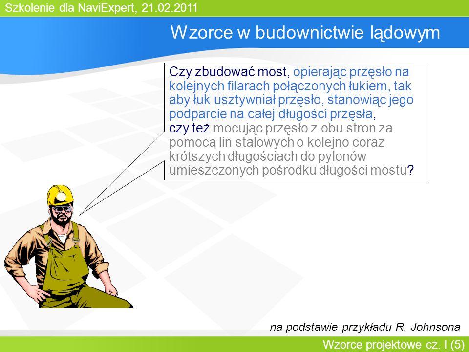 Szkolenie dla NaviExpert, 21.02.2011 Wzorce projektowe cz. I (46) Factory Method: struktura