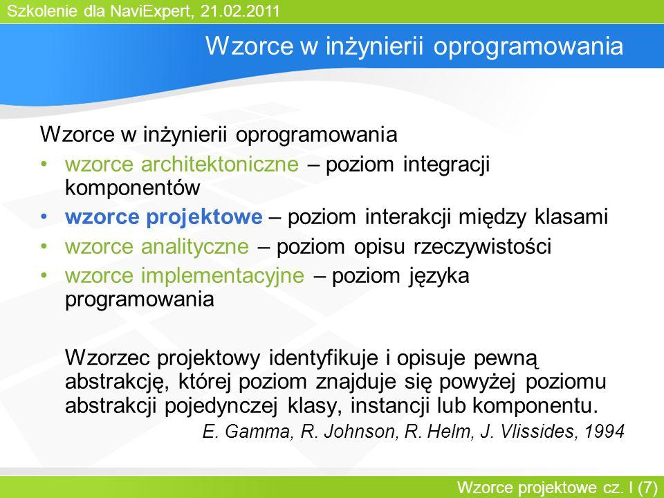 Szkolenie dla NaviExpert, 21.02.2011 Wzorce projektowe cz. I (18) Pool of Objects: struktura