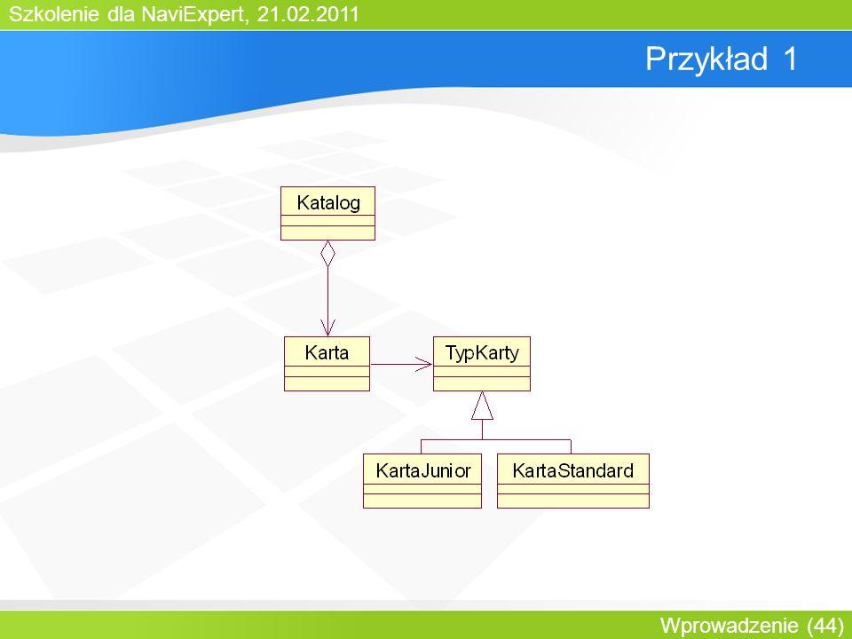 Szkolenie dla NaviExpert, 21.02.2011 Wprowadzenie (44) Przykład 1