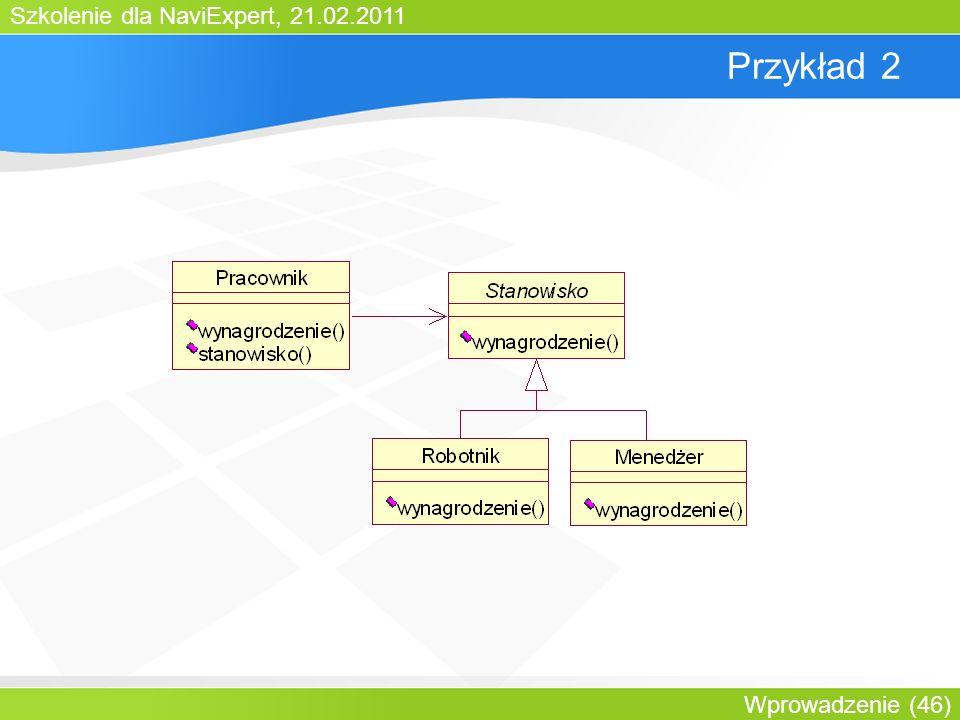 Szkolenie dla NaviExpert, 21.02.2011 Wprowadzenie (46) Przykład 2