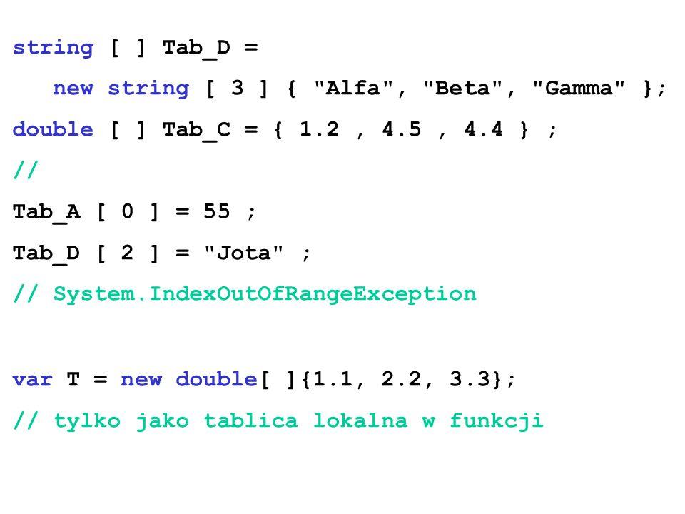 string [ ] Tab_D = new string [ 3 ] {