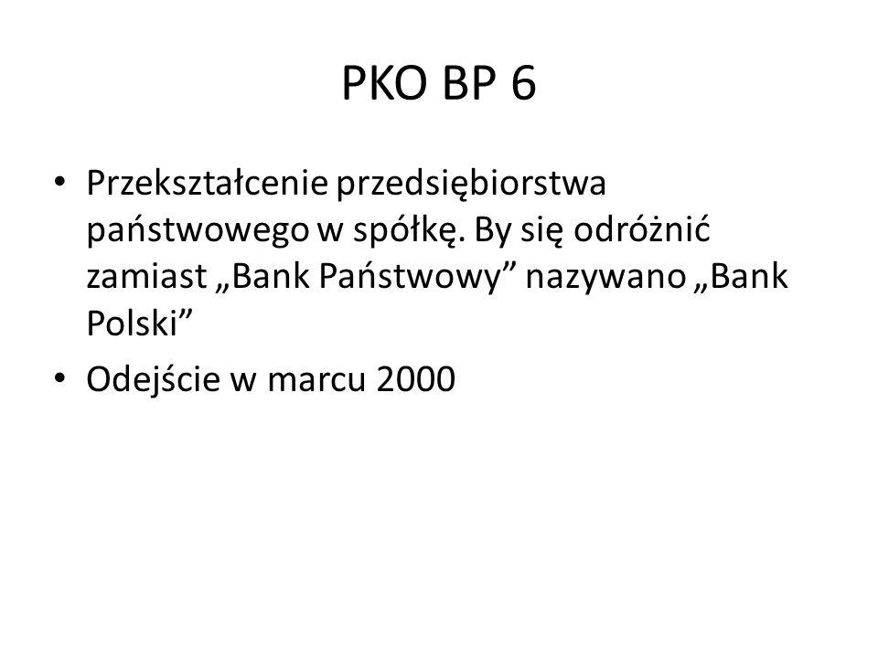 PKO BP 6 Przekształcenie przedsiębiorstwa państwowego w spółkę.
