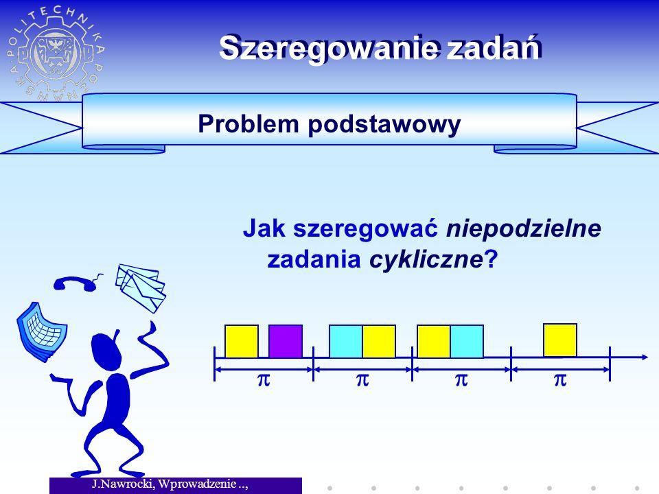 J.Nawrocki, Wprowadzenie.., Wykład 8 Szeregowanie zadań Jak szeregować niepodzielne zadania cykliczne.