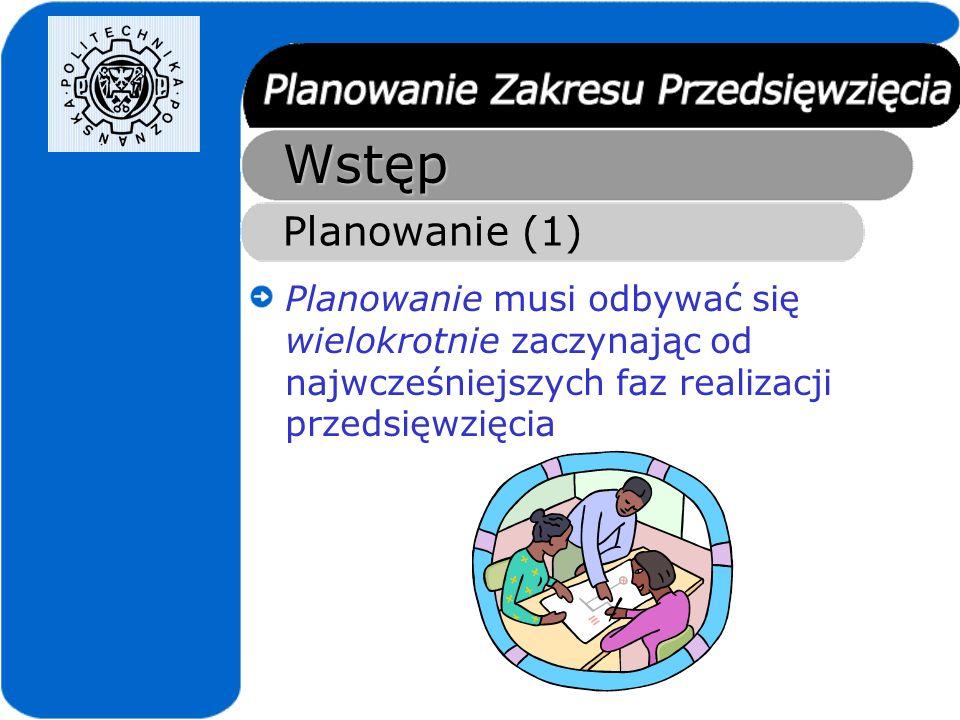 Wstęp Planowanie (2) Podejście typu big-bang Project Statement Wymagania ProjektKod Kilka lat
