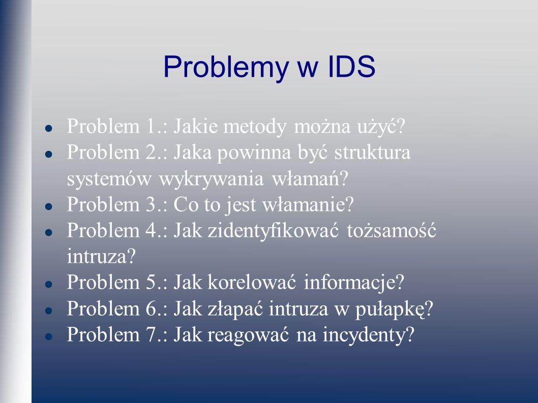 Problemy w IDS Problem 1.: Jakie metody można użyć.