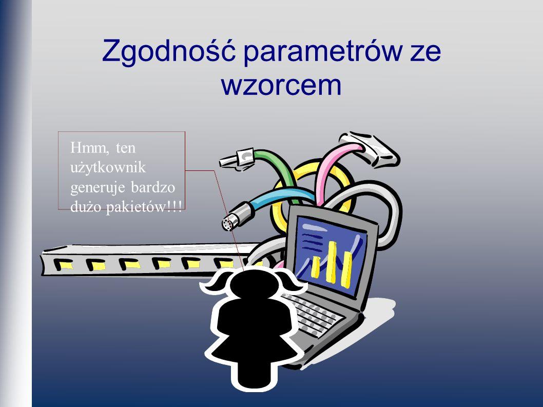 Zgodność parametrów ze wzorcem Hmm, ten użytkownik generuje bardzo dużo pakietów!!!