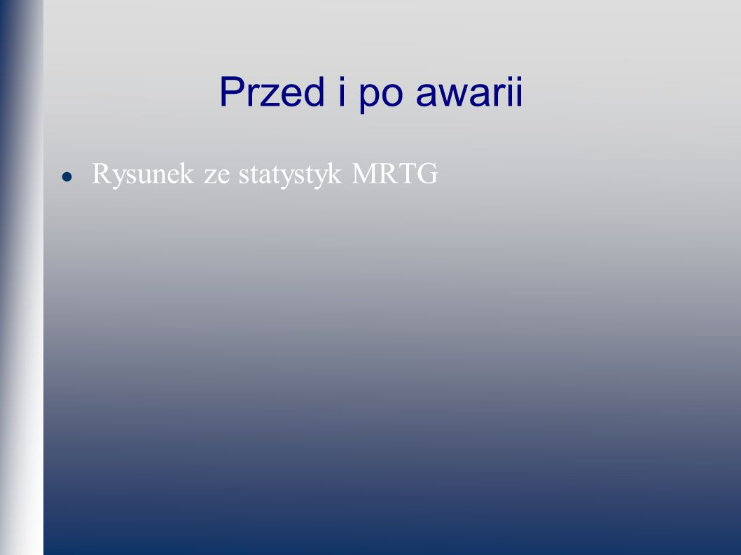 Przed i po awarii Rysunek ze statystyk MRTG