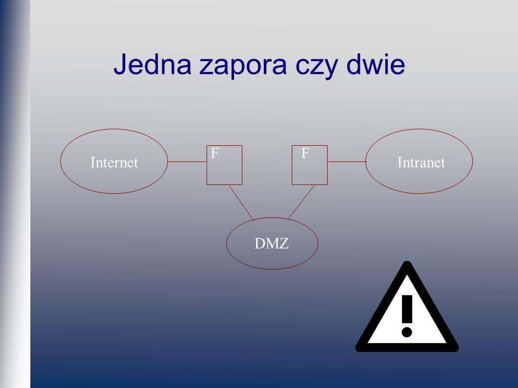 Jedna zapora czy dwie InternetIntranet FF DMZ