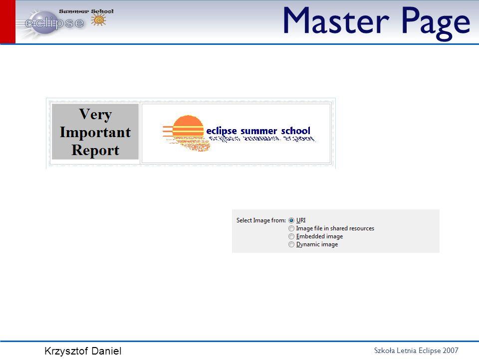 Szkoła Letnia Eclipse 2007 Krzysztof Daniel Master Page