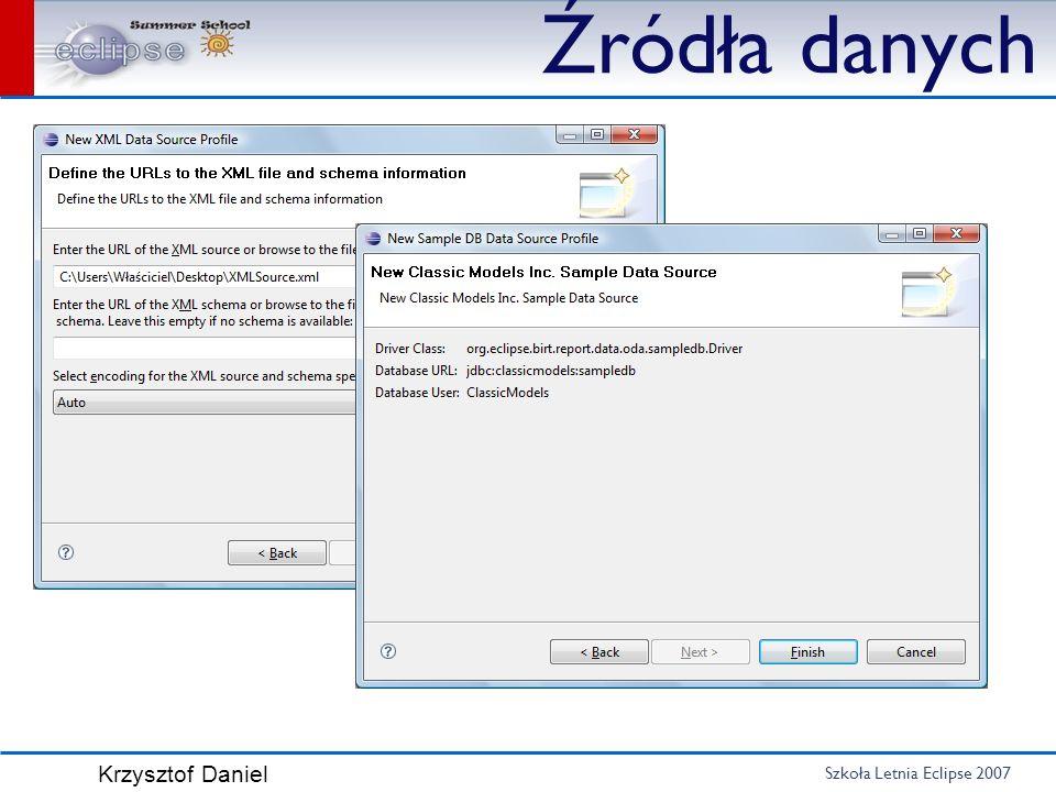 Szkoła Letnia Eclipse 2007 Krzysztof Daniel Źródła danych