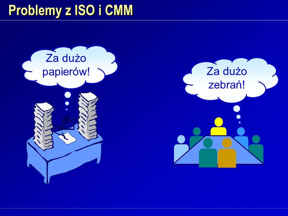 Problemy z ISO i CMM Za dużo papierów! Za dużo zebrań!
