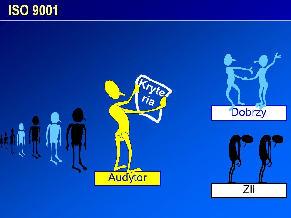 Audytor Dobrzy ISO 9001 Kryte- ria Źli