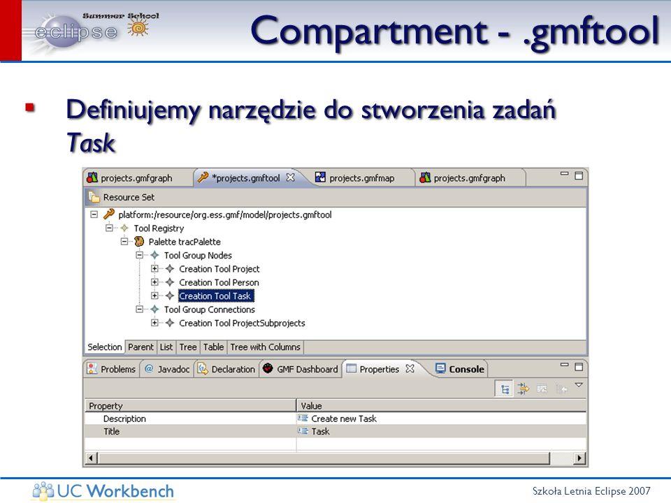 Szkoła Letnia Eclipse 2007 Compartment -.gmftool Definiujemy narzędzie do stworzenia zadań Task