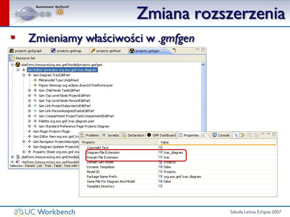 Szkoła Letnia Eclipse 2007 Zmiana rozszerzenia Zmieniamy właściwości w.gmfgen