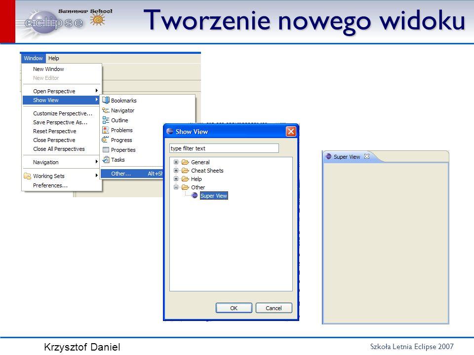 Szkoła Letnia Eclipse 2007 Krzysztof Daniel Popup Menu