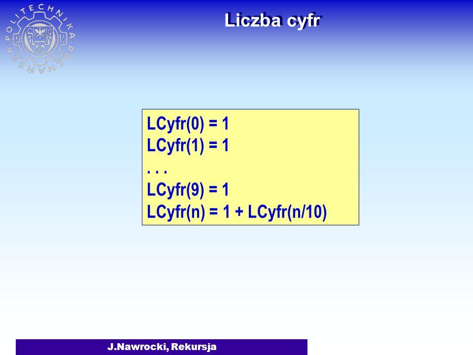 J.Nawrocki, Rekursja function S(n: integer): integer; begin if n = 0 then S:= 1; if n > 0 then S:= S(n-1) * n; end; var n: integer; begin read(n); wri