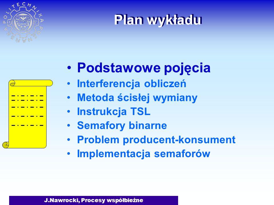 J.Nawrocki, Procesy współbieżne Rekord aktywacji procesu Next...