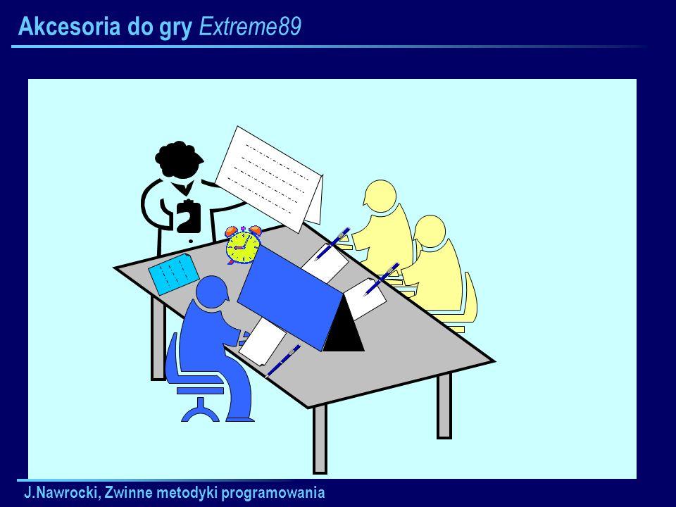 J.Nawrocki, Zwinne metodyki programowania Akcesoria do gry Extreme89