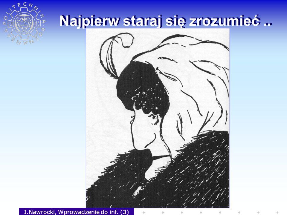 J.Nawrocki, Wprowadzenie do inf. (3) Najpierw staraj się zrozumieć..