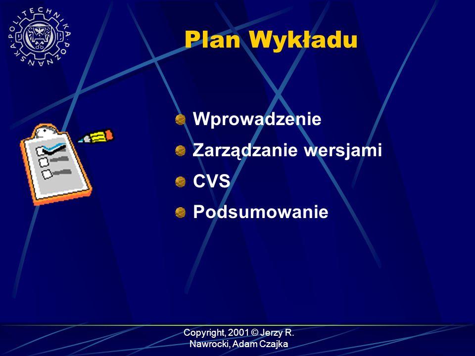 Plan Wykładu Wprowadzenie Zarządzanie wersjami CVS Podsumowanie