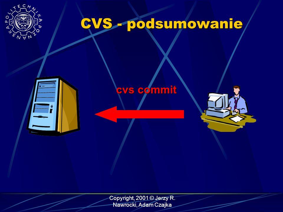 Copyright, 2001 © Jerzy R. Nawrocki, Adam Czajka CVS - podsumowanie cvs commit