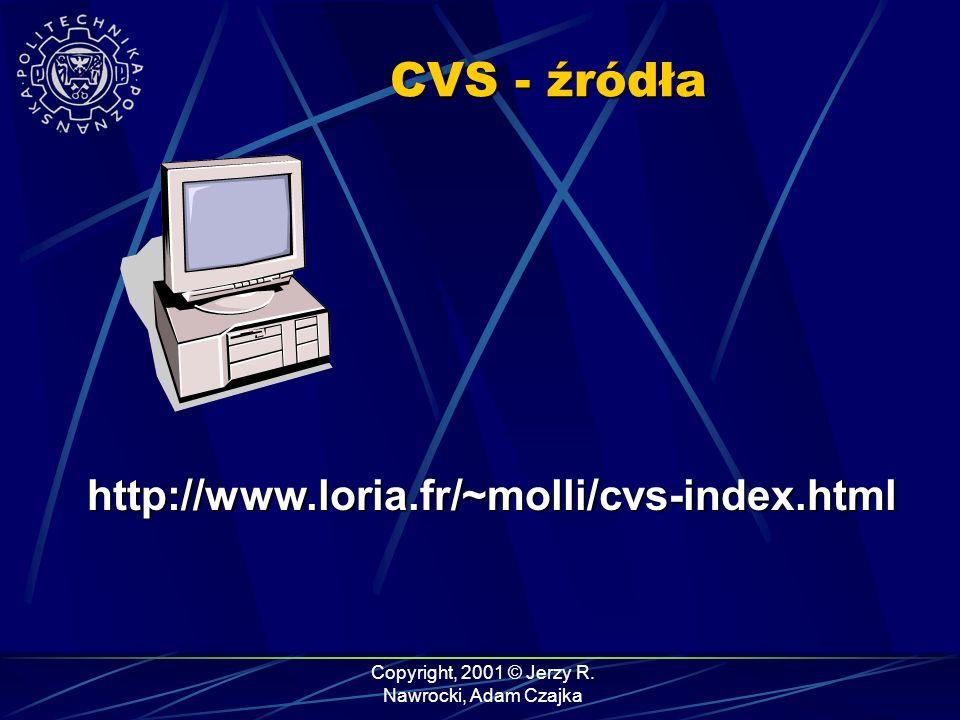 CVS - źródła http://www.loria.fr/~molli/cvs-index.html