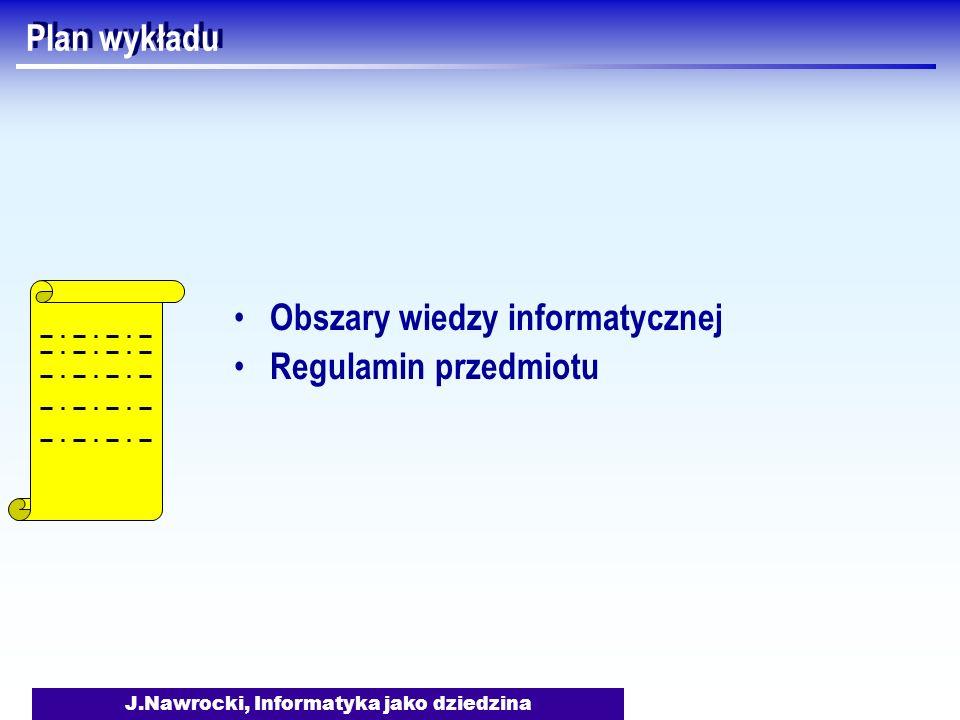 J.Nawrocki, Informatyka jako dziedzina Systemy operacyjne Jak uniknąć zastoju w systemie.