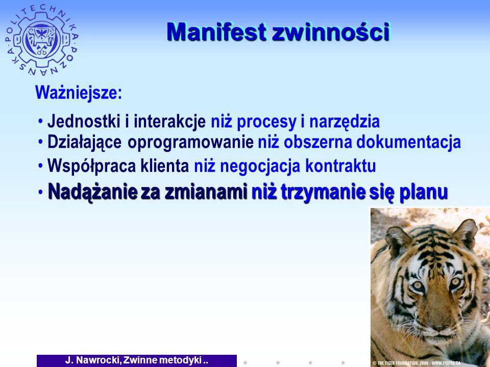 J. Nawrocki, Zwinne metodyki..