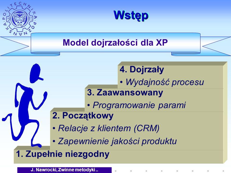 J. Nawrocki, Zwinne metodyki.. WstępWstęp 1. Zupełnie niezgodny Model dojrzałości dla XP 2.