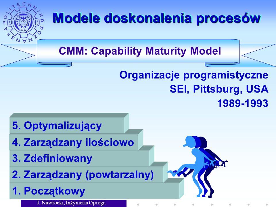 J. Nawrocki, Inżynieria Oprogr. Modele doskonalenia procesów CMM: Capability Maturity Model 1.