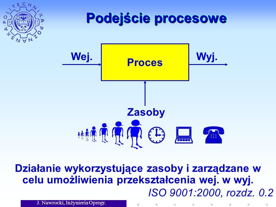J. Nawrocki, Inżynieria Oprogr. Podejście procesowe Proces Wej.Wyj.