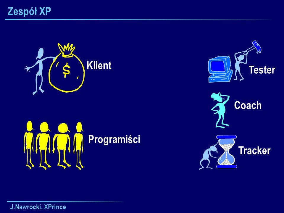 J.Nawrocki, XPrince Zespół XP Klient Coach Tracker Tester Programiści