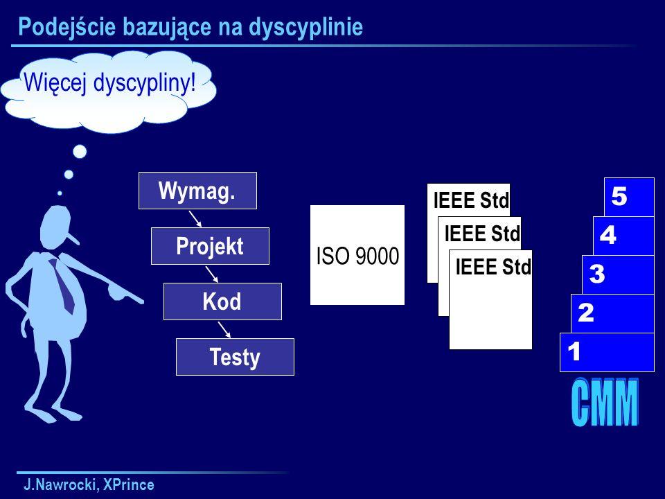 J.Nawrocki, XPrince Podejście bazujące na dyscyplinie Więcej dyscypliny.