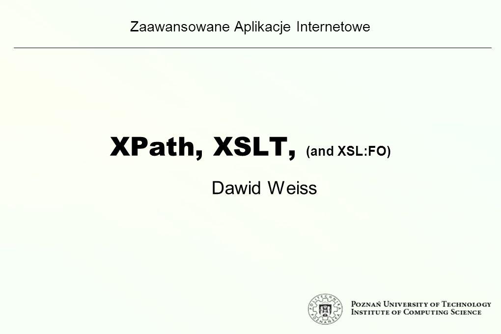 Zad.domowe. Napisz arkusz XSLT, który wykona transformację odwrotną.