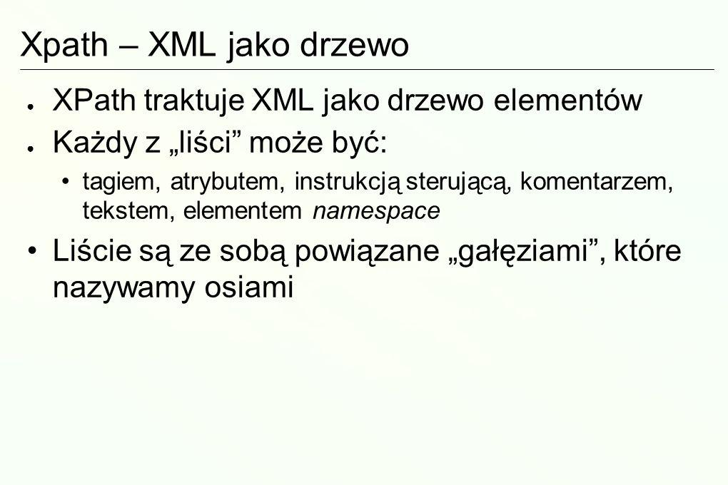 XSLT XSLT = Extensible Stylesheet Language Transformations Regułowy język przetwarzania dokumentów XML w inne dokumenty XML (lub w dokumenty tekstowe) Język sam jest zapisany oczywiście w… XML.