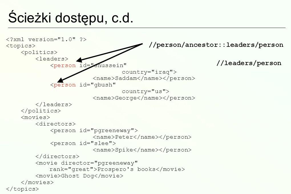 Za i przeciw XSLT XSLT jest bardzo wszechstronnym językiem Styl programowania deklaratywnego nie jest dla każdego… Łatwo osiągnąć separację treści od prezentacji (XML->HTML).