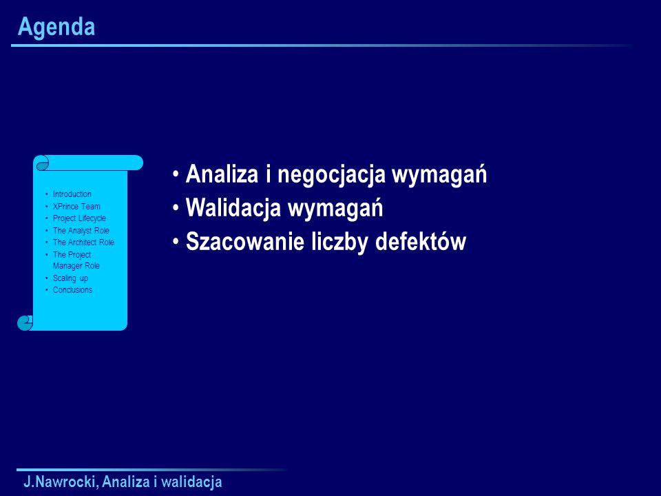 J.Nawrocki, Analiza i walidacja Macierz interakcji W1 W2 W3 W4 W5 W1 W2 W3 W4 W5