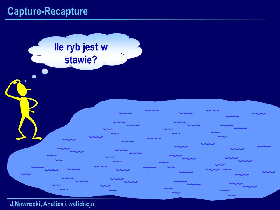 J.Nawrocki, Analiza i walidacja Capture-Recapture Ile ryb jest w stawie?