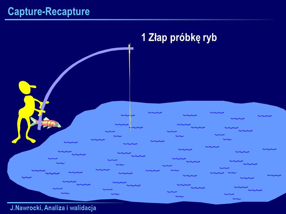 J.Nawrocki, Analiza i walidacja Capture-Recapture 1 Złap próbkę ryb