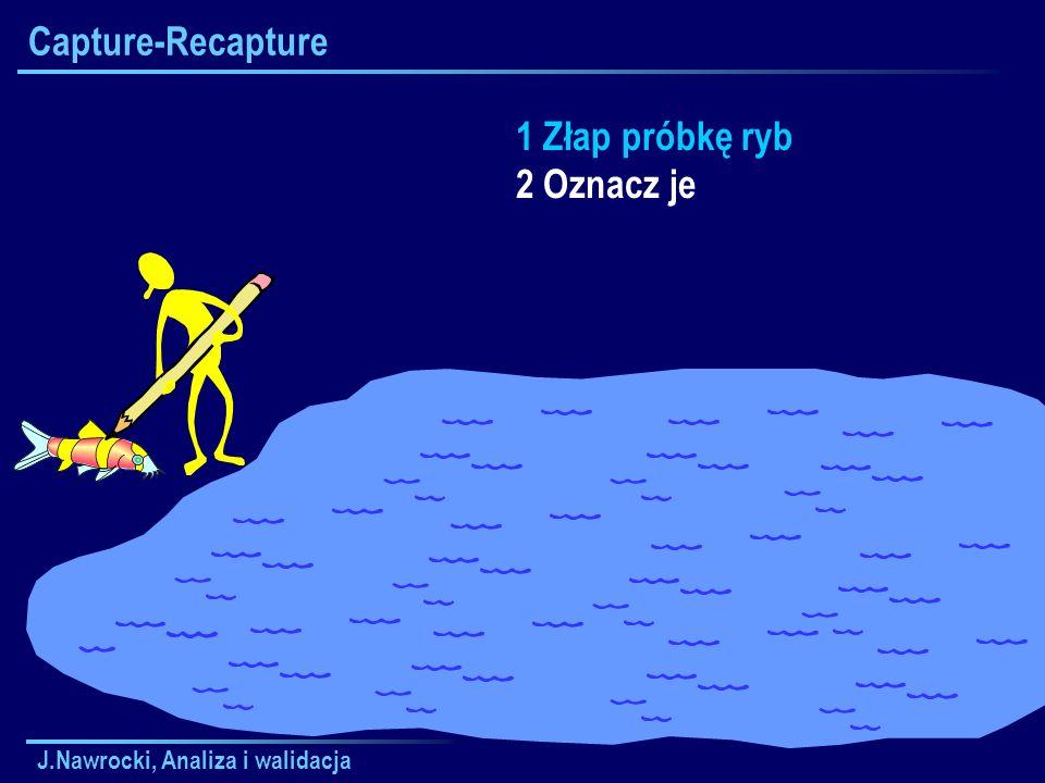 J.Nawrocki, Analiza i walidacja Capture-Recapture 1 Złap próbkę ryb 2 Oznacz je