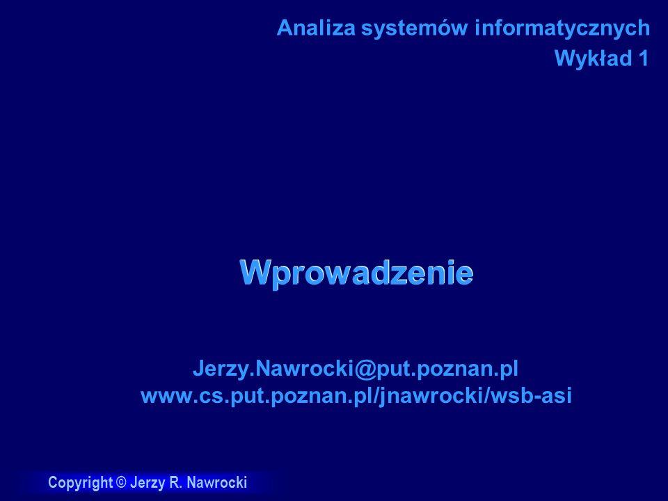 J.Nawrocki, Wprowadzenie Ocena wykładu 1.Wrażenie ogólne (1 - 6) 2.