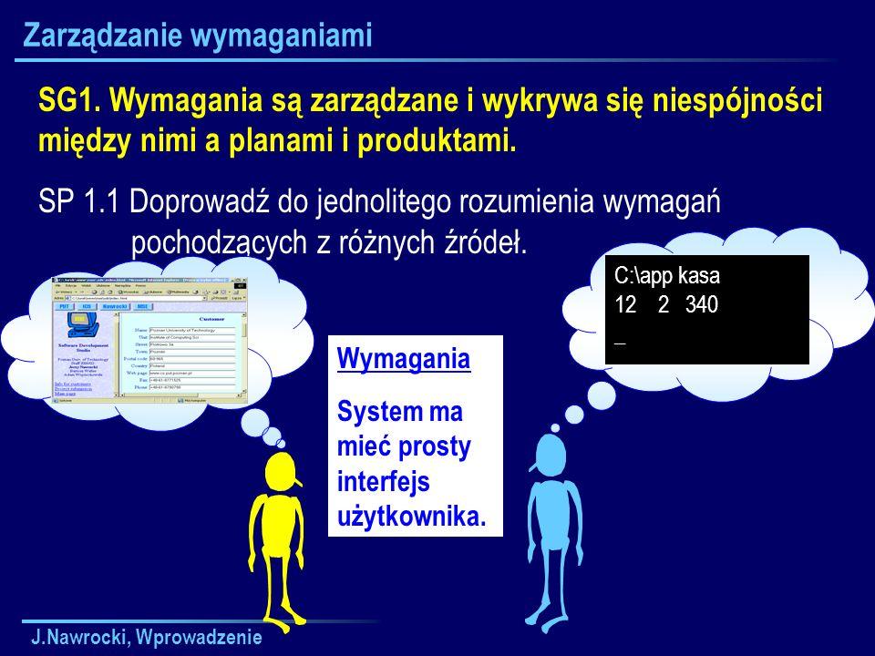 J.Nawrocki, Wprowadzenie Zarządzanie wymaganiami SG1.