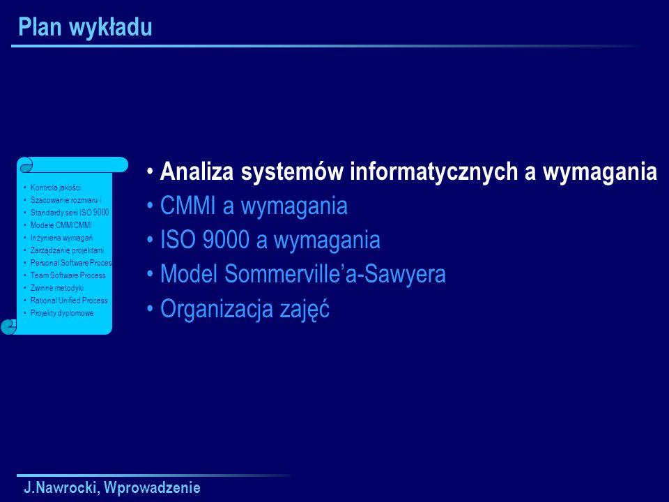 J.Nawrocki, Wprowadzenie Analiza systemów informatycznych.. z punktu widzenia inżynierii wymagań.