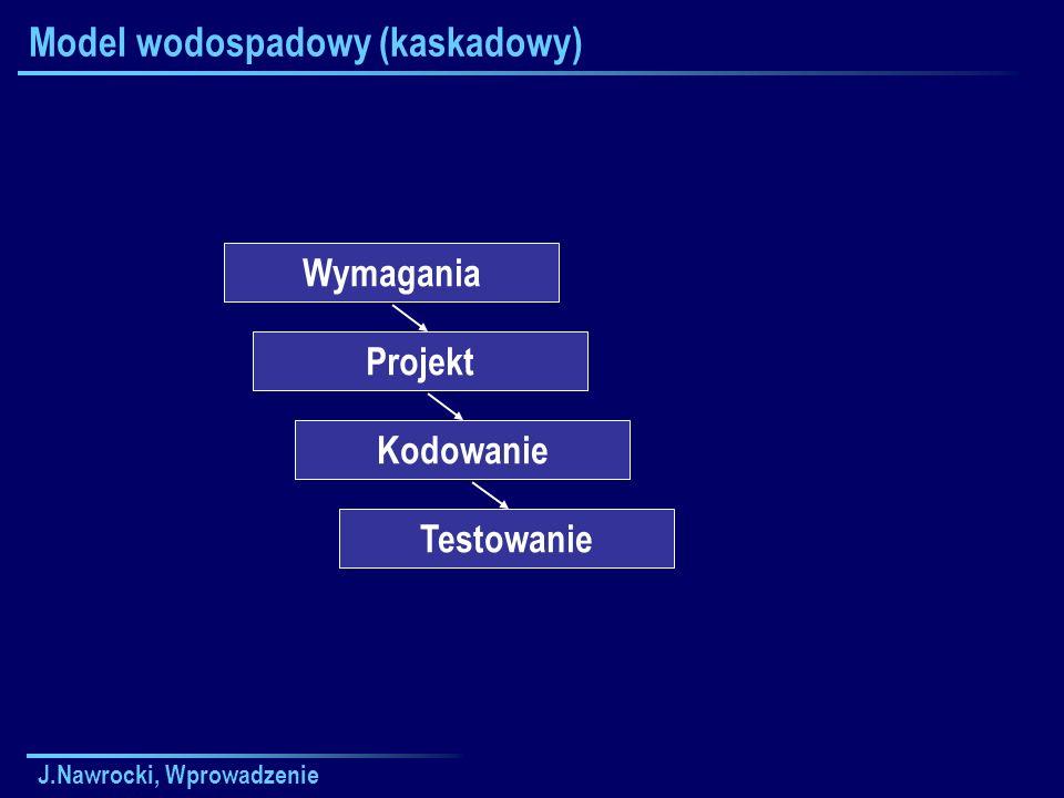 J.Nawrocki, Wprowadzenie Zaliczenie przedmiotu Wykłady: egzamin pisemny + ustny 5-10 pytań/zadań Ćwiczenia lab.: reguły ustala prowadzący ćw.